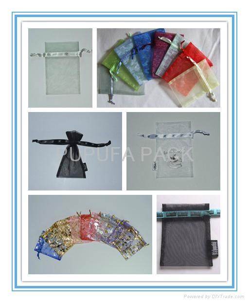 柯根紗袋禮品袋化妝品包裝袋沐浴用品包裝袋內衣袋禮品促銷袋 1