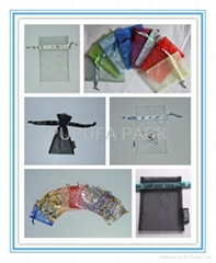 Various kinds of organza pouches cosmetic gift bags packaging bags