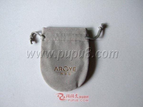 半圆形双拉绳绒布袋 3