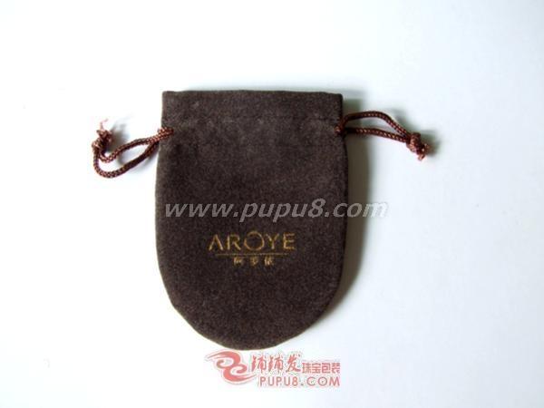 半圆形双拉绳绒布袋 4