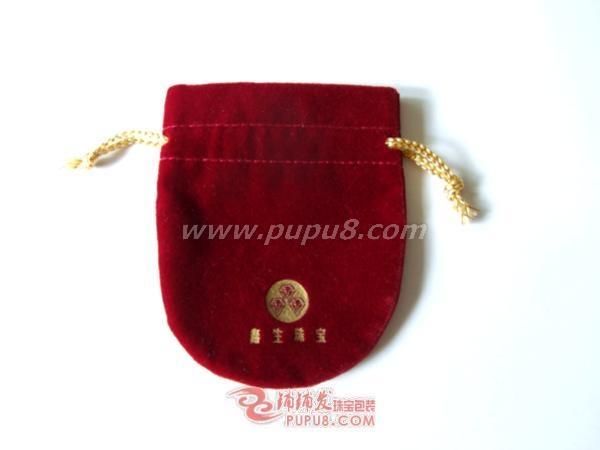 半圆形双拉绳绒布袋 5