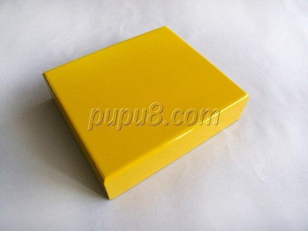 yellow gloosy finish wooden jewelry box 3