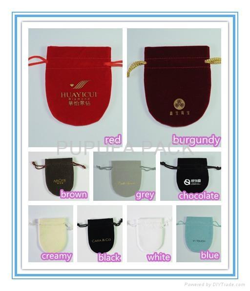 Various colors shapes of velvet pouches organza pouches cotton bags gift b 3